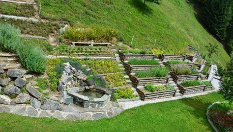 Bauerngarten Am Hang Google Suche Garten Bauerngarten Garten Hochbeet
