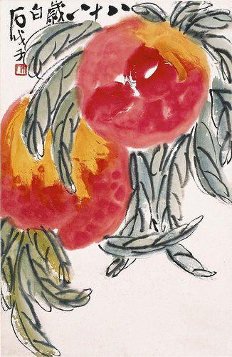 齊白石 - 雙壽 by China Online Museum - Chinese Art Galleries, via Flickr
