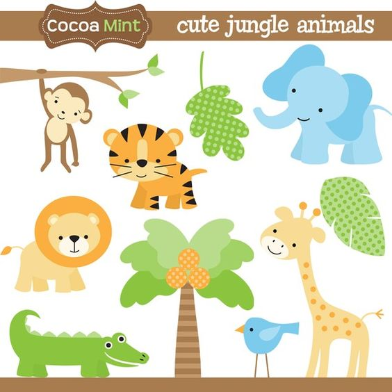 Clip Art Jungle Animal Clipart cute jungle animals clip art and homemade designs for invitations labels banners