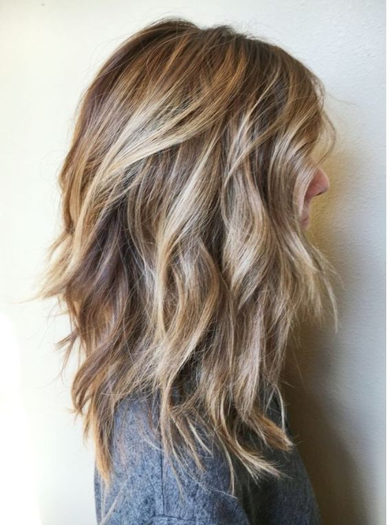Cut and color: good if your trying to transition from brown to blonde: