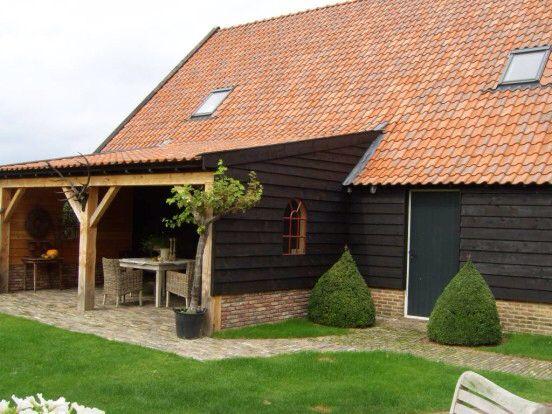 Veranda potdeksel hout met stalraam tuin pinterest met en veranda 39 s - Veranda met muur ...