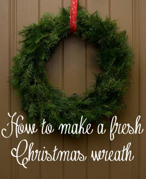 How to Make a Live Christmas Wreath - full pictorial