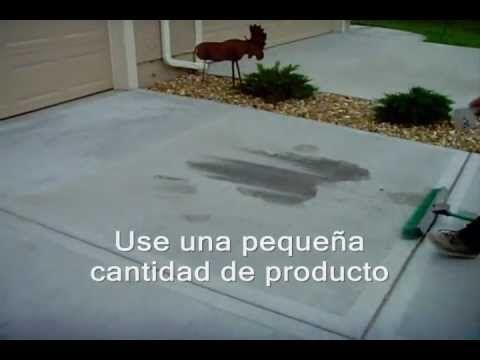 Cómo Limpiar Manchas De Aceite En El Hormigón O Concreto Www Sealgreen Com Youtube Manchas De Aceite Placa De Concreto Manchas