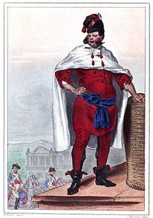 The executioner of King Louis XVI (Charles-Henri Sanson, itself, designed by H. Baron)