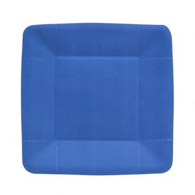 7 1/2 Inch Blue Square Paper Plates/Case of 480