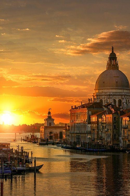 """""""Daybreak by guerel sahin """" - Basilica della Salute, Punta della Dogana, Bacino di San Marco col sfondo del Lido di VeneziaThis is my city(for me the most beautiful in the world!)...The city of Wild Heart ♥!!!"""