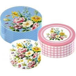Gorgeous shabby chic cake tins from our Katie Alice English Garden collection