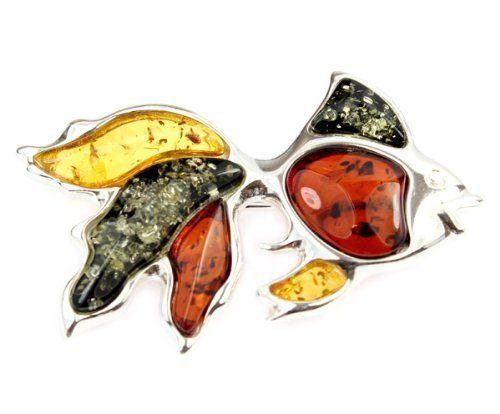 SilverAmber 925 Sterling Silver & Baltic Amber Jewellery - Designer Brooch AD803M SilverAmber. $89.95. handmade. 925 sterling. sterling silver. designer. amber