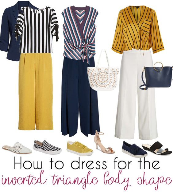 How to dress the inverted triangle body shape – learn how to dress for your body type