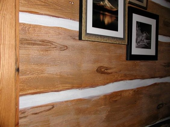Faux Finishes Pain Log Cabin Walls I 39 Ve Done This Before And It Is So Simple Mountain House