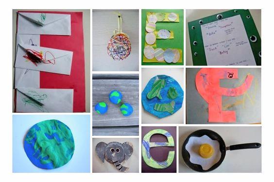 letter Ee crafts