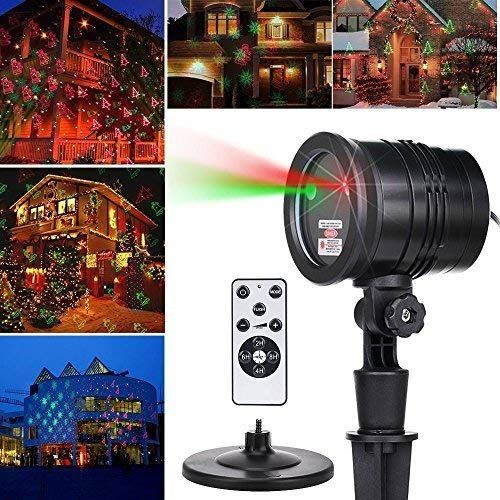 Laser Decorative Lights Garden Laser Light Projector Remote Control Indoor Outdoor Decorations 5w Light Show Green Red Cola Bell For Halloween