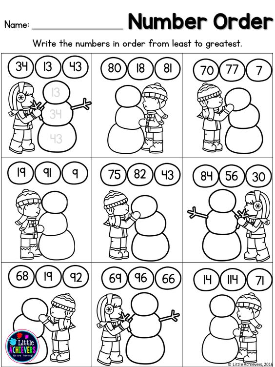 Winter First Grade Math and Literacy Worksheets – Winter Math Worksheets First Grade