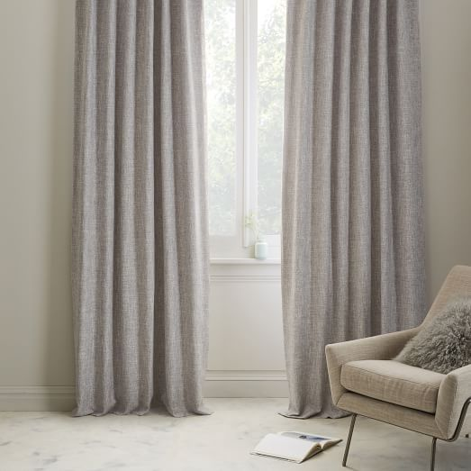 Textured Weave Curtain Blackout Panel Ivory 48 X96 Curtains