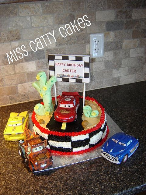 Carter's Cars Birthday Cake 2009 by Miss Catty Cakes Cake Design, via Flickr