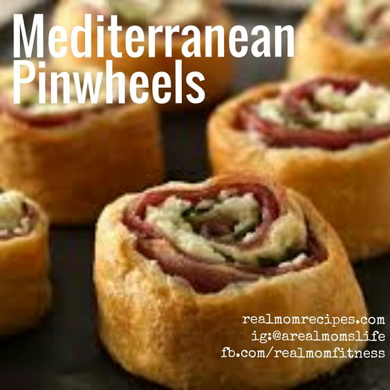 Mediterranean Pinwheels - 80 cals each!