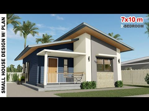 3 Bedroom Small House Design 7x10m House Design Under 1 Million Philippines Yo Small House Design Philippines Small House Design Plans Small House Design