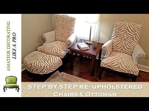Thrifted Chairs Ottoman Re Upholstery Step By Steptutorial