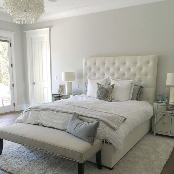 Paint color is silver drop from behr beautiful light warm gray stunning eye for pretty pick Beautiful master bedroom paint colors