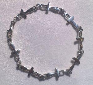 sterling silver Ankh bracelet