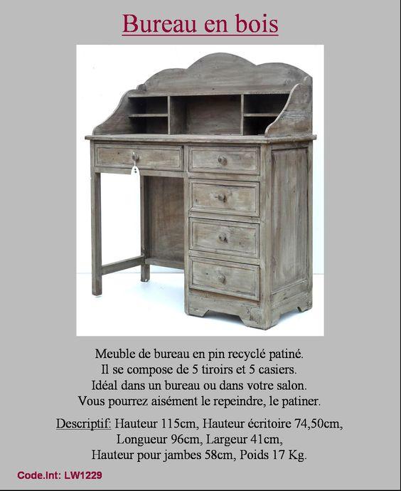 Pin by catherine peron on bricolage Pinterest - meuble en bois repeint