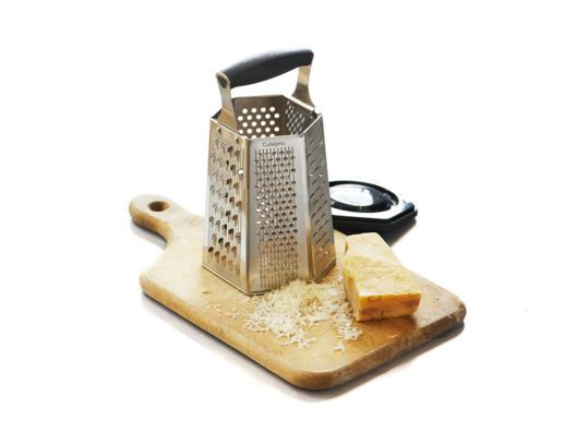 6-Sided Box Grater with Removable Ginger Grater.