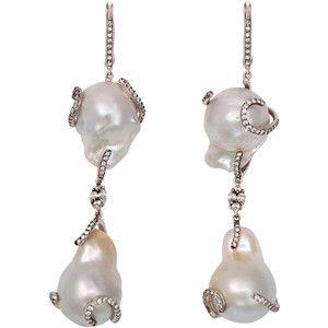 Baroque Pearl Mermaid Drop Earrings