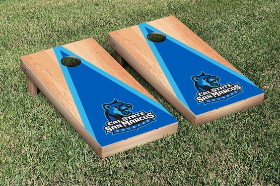 Cal State San Marcos Cougars Triangle Hardcourt Cornhole Bag Toss Game
