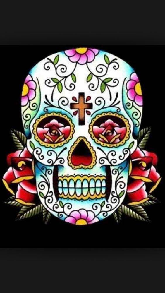 Traditional Sugar Skull Body Art Pinterest