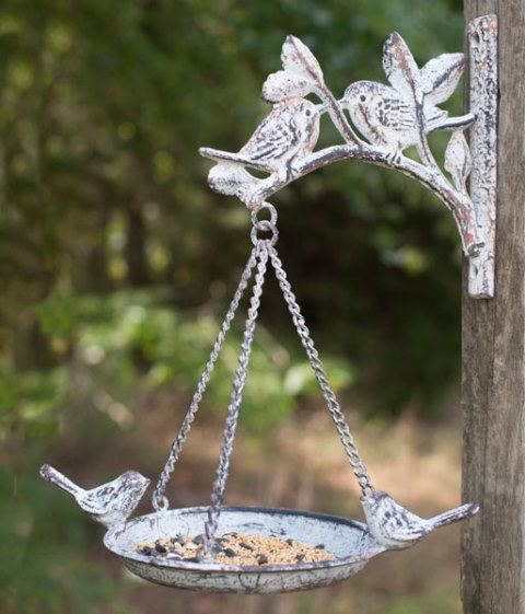 Cast Iron Feeder with Bracket Set of Two