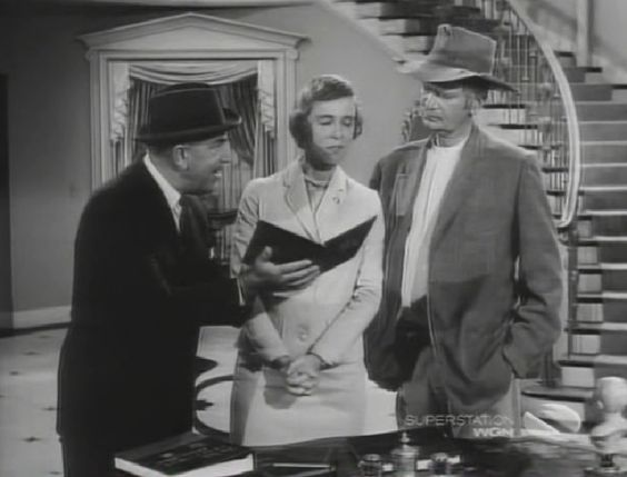 """The Beverly Hillbillies Episode about coin collecting - Milburn Drysdale showing Jed Clampett and Jane Hathaway dime coin album....episode Season 3 episode 29, """"The Big Bank Battle"""" (The album and coins used in this episode was on loan from Buddy Ebsen's personal coin collection)"""