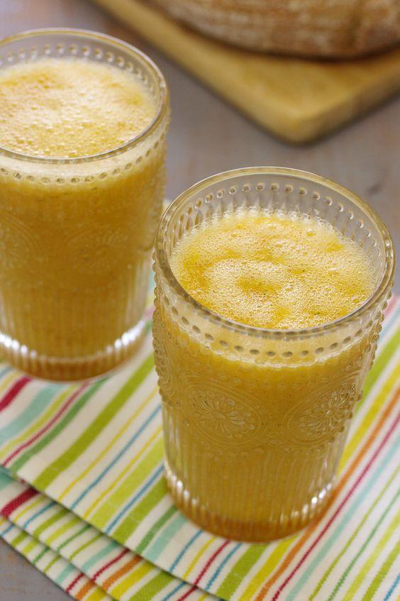 Sumo de Meloa com laranja e banana