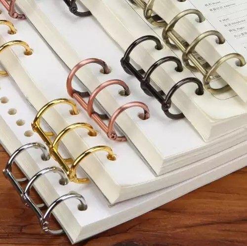 3 Hole Rings Paper Collection Clips Metal Paper Clip Diy Notebook Metal Clips Gold Silver Black Bronze Us Loose Leaf Binder Metal Paper Clips Binder Diy