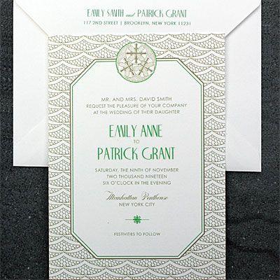 Savoy Suite - Postscript Brooklyn - Totally customizable wedding invitation suites from psbrooklyn.com