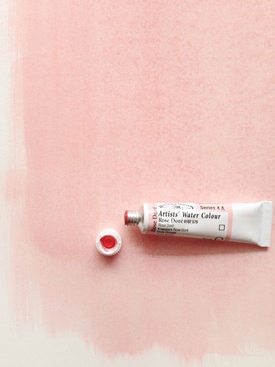 blush pink water color