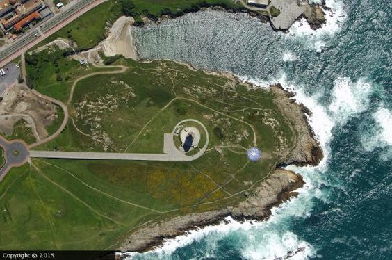La Coruña Light (Tower of Hercules)...aerial view