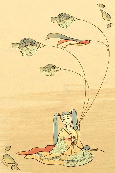 'Fugu' von Laura Congiu bei artflakes.com als Poster oder Kunstdruck $16.63
