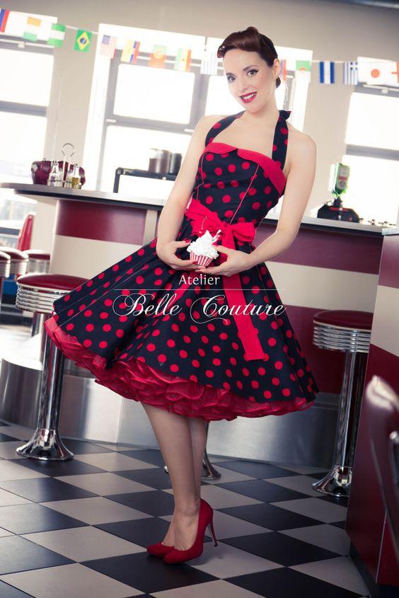 50er jahre rockabilly petticoat kleid rockabilly. Black Bedroom Furniture Sets. Home Design Ideas