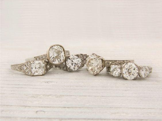 Love It! Estate Engagement Rings - The Bride's Guide : Martha Stewart Weddings