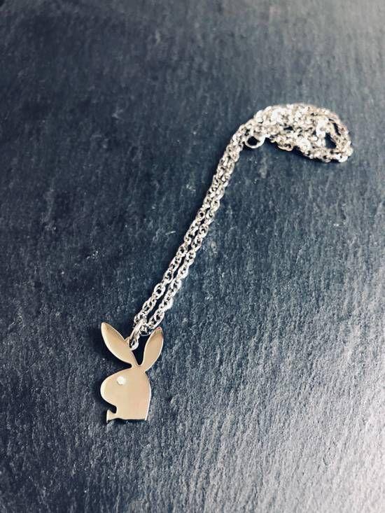 Silver Playboy Necklace Sale Streetwear Any Size