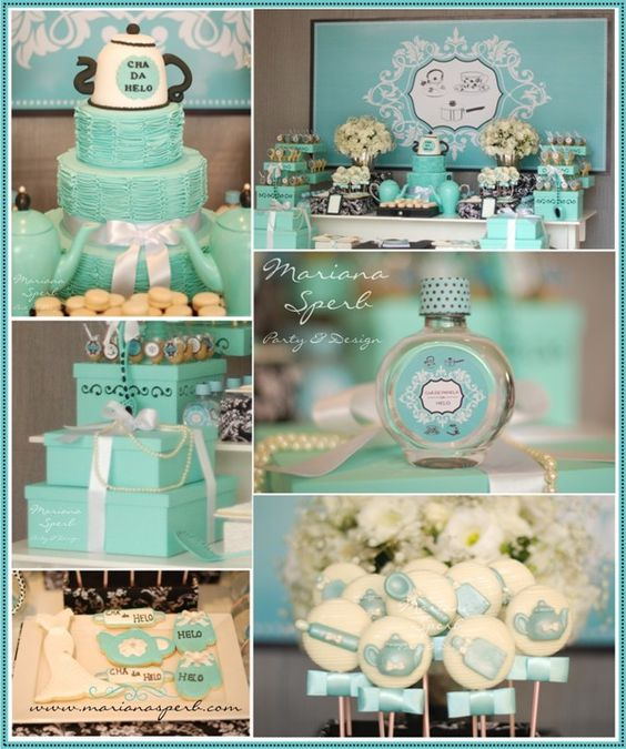 Chá de Panela Azul Tiffany