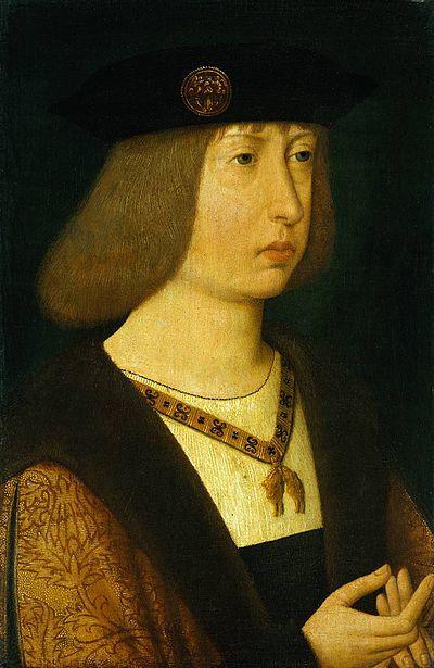 Filipe I de Castela, o Belo. Casou com Joana de Aragão, a Louca, filha de Fernando de Aragão e de Isabel de Castela. Carlos V, imperador do Sacro Império Romano era seu filho.