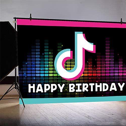 Tik Tok Birthday Party Decoratioms Happy Birthday Banner Tik Tok Backdrop And Tik Tok Banner F Birthday Backdrop Themed Party Supplies Happy Birthday Banners