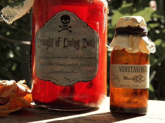 Harry-Potter Zaubertränke für Halloween
