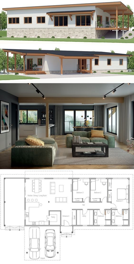 Affordable Home Plan Homeplan Houseplan Housedesign Container House Plans Contemporary House Plans Mountain House Plans