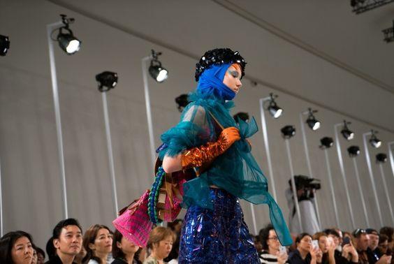 John Galliano for Maison Margiela S/S 2017 Défilé collection  / Look 20, Model : Vika Ihnatenko