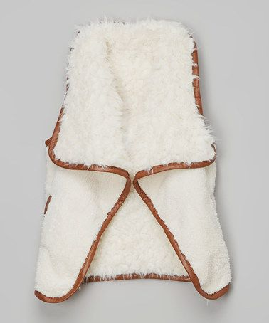 Another great find on #zulily! White Reversible Faux Fur Vest - Infant, Toddler & Girls #zulilyfinds