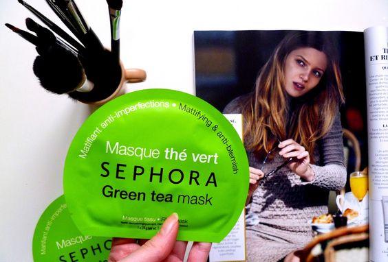 Masque tissu thé vert de Sephora - Revue blog beauté