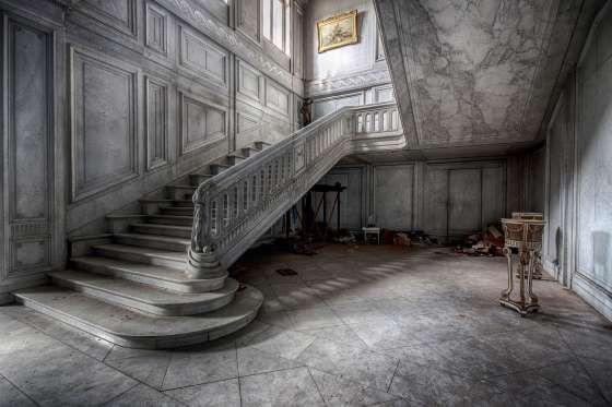 Staircase Chateau de la Foret 'Abandoned Castles and Mansions' - Brian Preciousdecay, preciousdecay.com