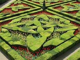 Jardin Villandry tulipes en avril H. Carvallo et Festival des jardins de Chaumont sur Loire C.Mouton et Y.Wema�re